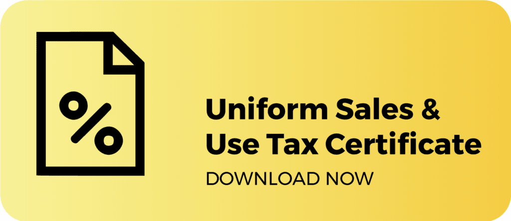 Uniform Sales & Use Tax Certificate