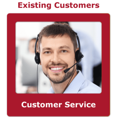 Customer service contact button