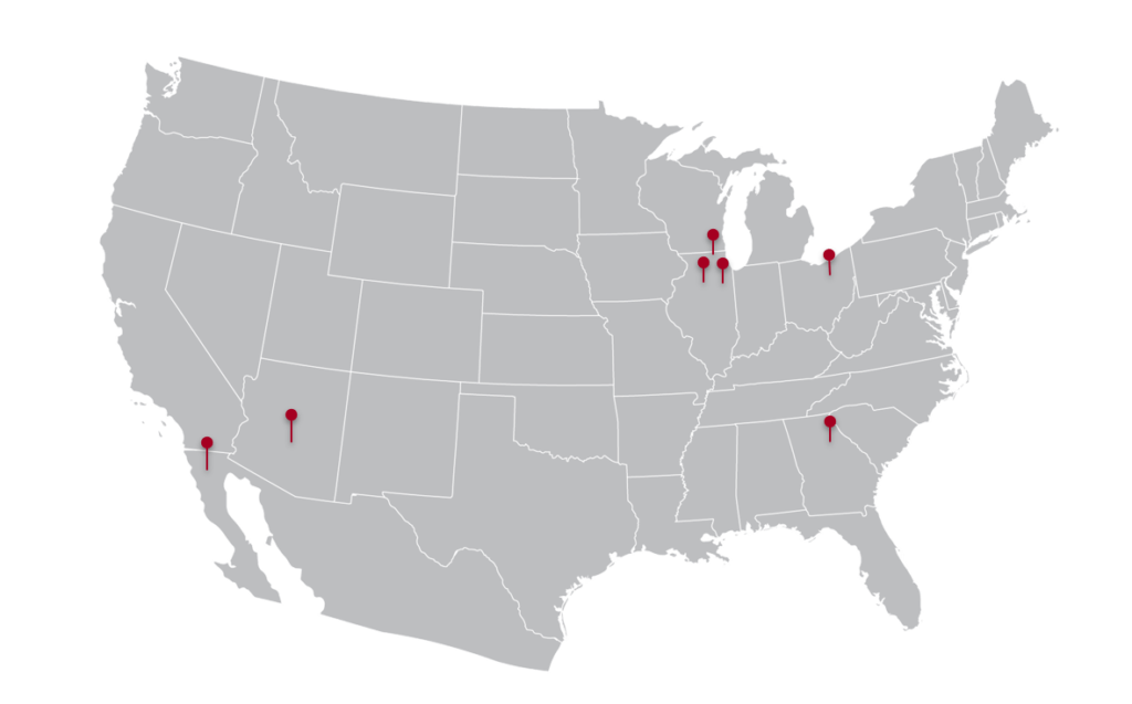Rohrer plant locations map