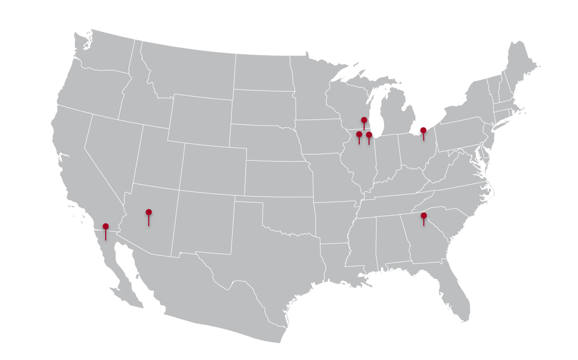 Map of Rohrer Plants